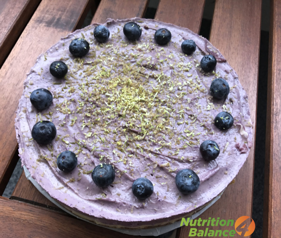 Blueberry Lime Raw Cheesecake