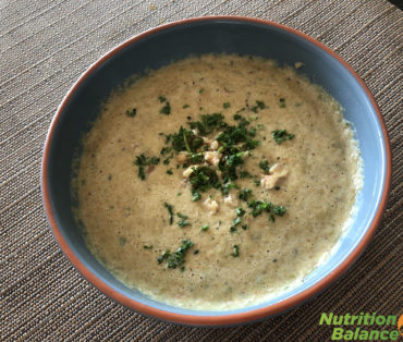 CREAMY MUSHROM WALNUT SOUP